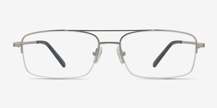Matte Silver Inlet -  Metal Eyeglasses
