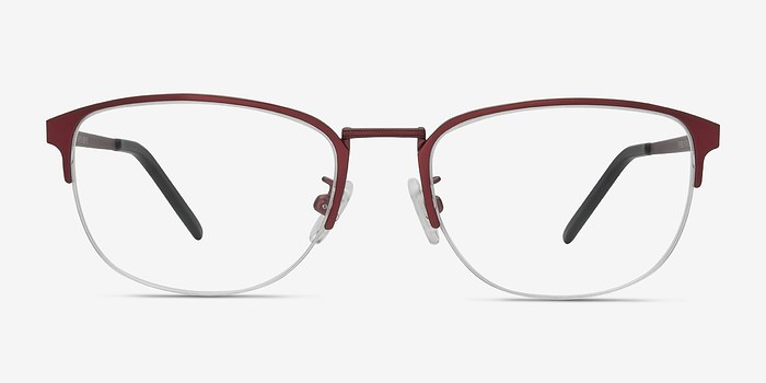 Burgundy Silox -  Metal Eyeglasses