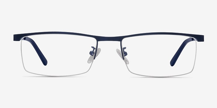 Navy Chute -  Metal Eyeglasses