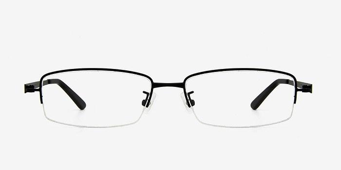 Black Cassi -  Classic Metal Eyeglasses