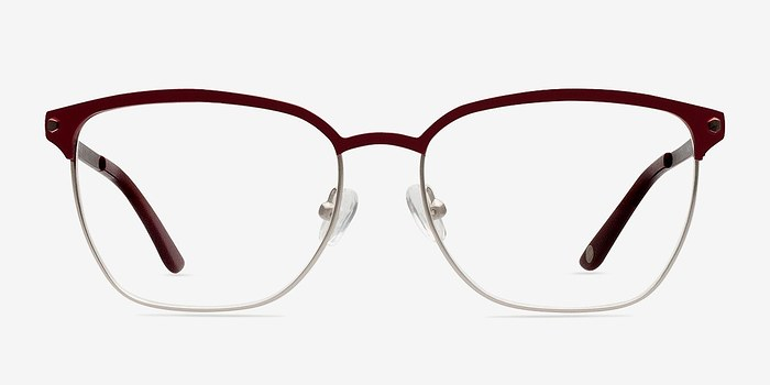 Berkeley Burgundy Women Metal Eyeglasses EyeBuyDirect