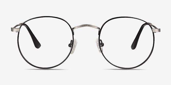 Black/Silver Daydream -  Classic Metal Eyeglasses