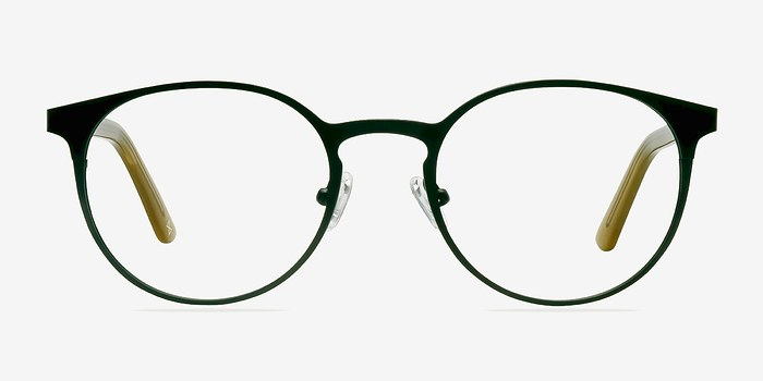 Black Steel/Acetate Outline -  Designer Metal Eyeglasses