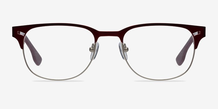 Burgundy Merrion -  Fashion Metal Eyeglasses