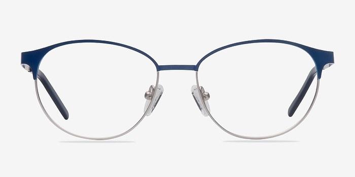 Navy Silver Mamba -  Fashion Metal Eyeglasses