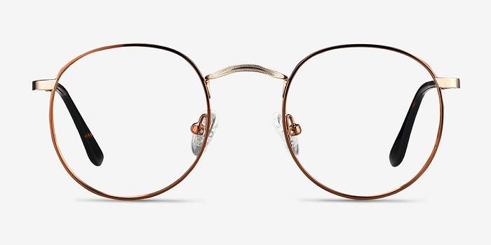 Brown Golden Daydream -  Metal Eyeglasses