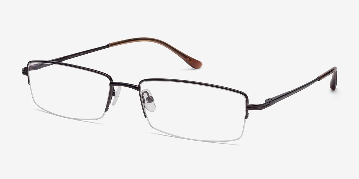 Minneapolis Brown Metal Eyeglasses EyeBuyDirect