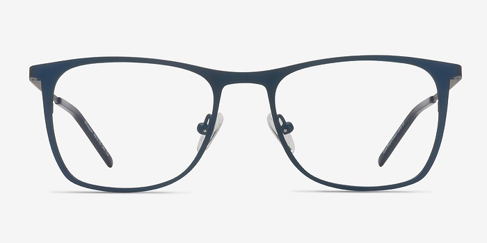 Matte Navy Whisper -  Metal Eyeglasses