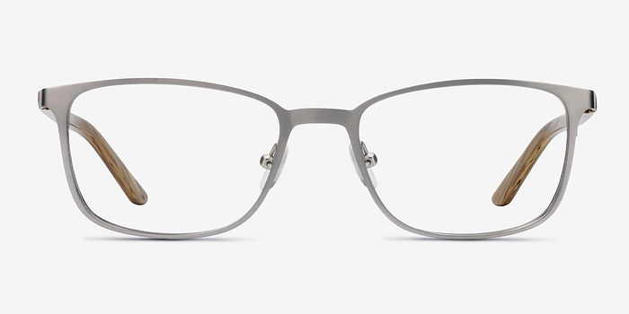 Light Gunmetal Lines -  Metal Eyeglasses