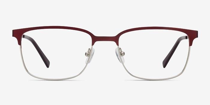 Burgundy Manchester -  Metal Eyeglasses