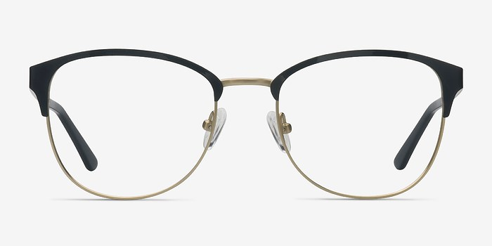 Black Golden The Moon -  Metal Eyeglasses