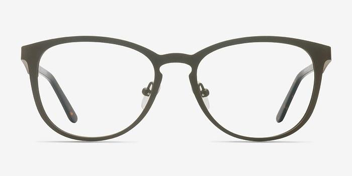 Matte Brown Neta -  Metal Eyeglasses