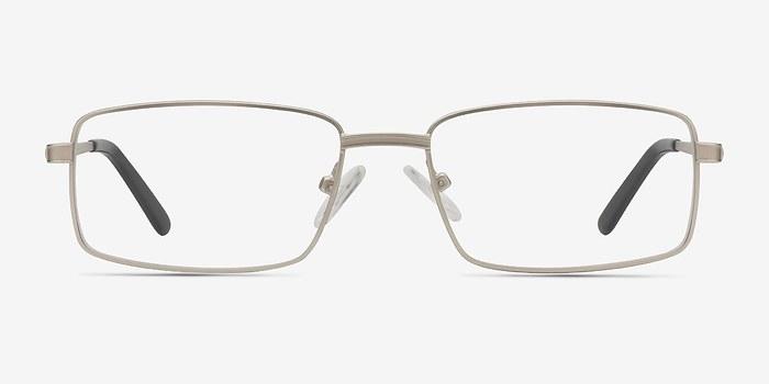 Matte Silver Parcel -  Metal Eyeglasses