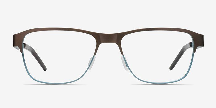 Matte Brown Python -  Classic Metal Eyeglasses