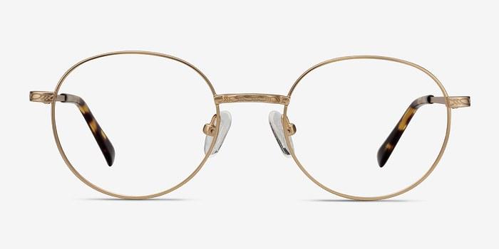 Golden Ledger -  Vintage Metal Eyeglasses