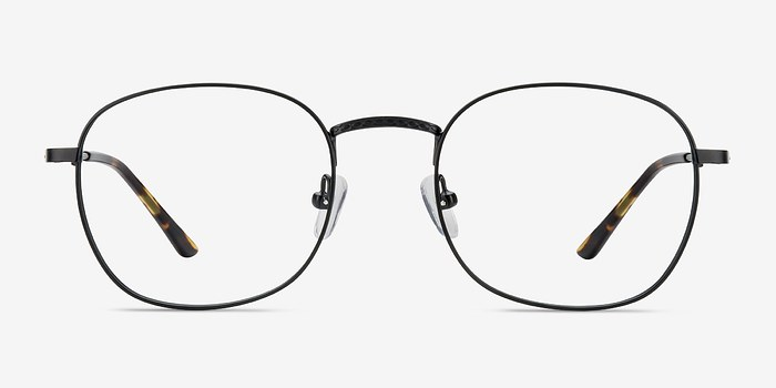 Black Suspense -  Classic Metal Eyeglasses