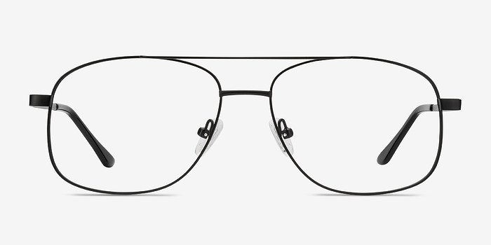 Matte Black Chronicles -  Metal Eyeglasses