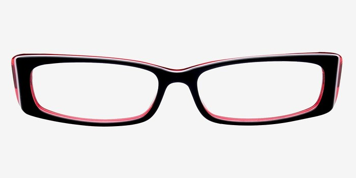 Red/Black Philly -  Colorful Plastic Eyeglasses