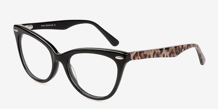 EyeBuyDirect Anika Black Women Acetate Eyeglasses