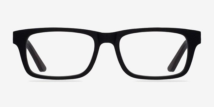 Black Emory -  Geek Wood Texture Eyeglasses