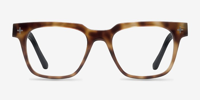 Brown/Tortoise Oxford -  Fashion Wood Texture Eyeglasses