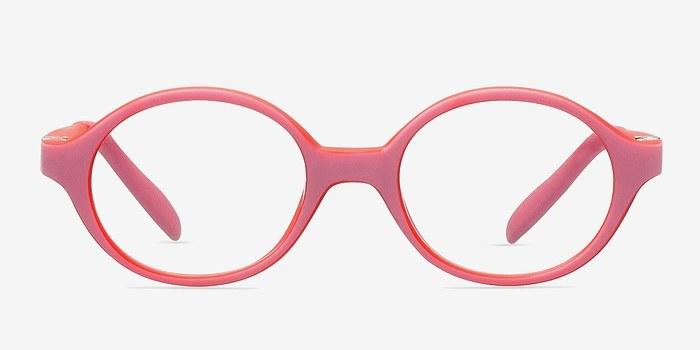 Pink/Red Theo -  Lightweight Plastic Eyeglasses