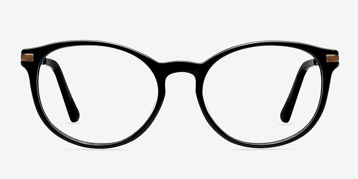 Black New Bedford -  Classic Acetate Eyeglasses