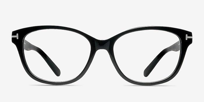 Black Mia Farrow -  Classic Acetate Eyeglasses
