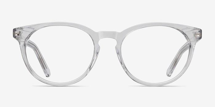 Try It On Glasses Frames : Morning Clear/White Acetate Eyeglasses EyeBuyDirect