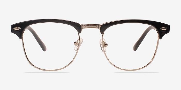 coexist black silver plastic eyeglasses eyebuydirect