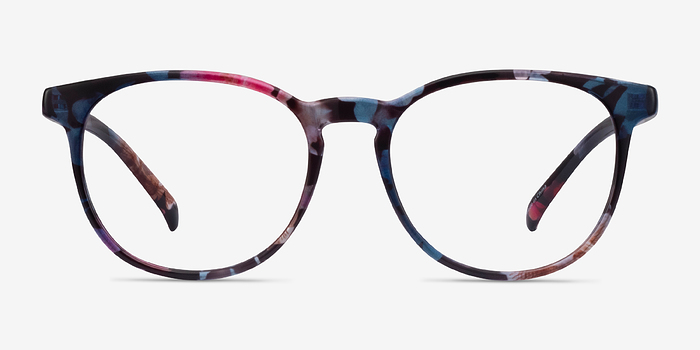 Pink/Floral Chilling -  Colorful Plastic Eyeglasses