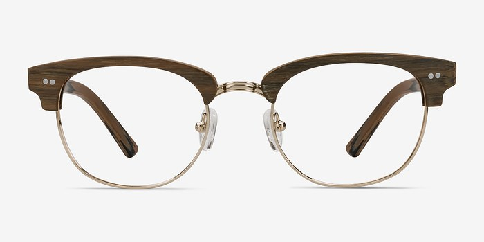 Brown/Golden Concorde -  Fashion Wood Texture Eyeglasses