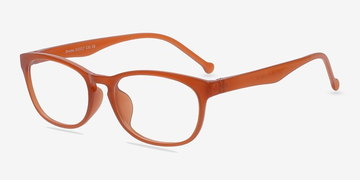 Are Plastic Eyeglass Frames In Style : Drums Orange Plastic Eyeglasses EyeBuyDirect