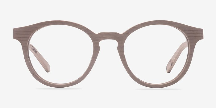 Beige Breeze -  Classic Wood Texture Eyeglasses