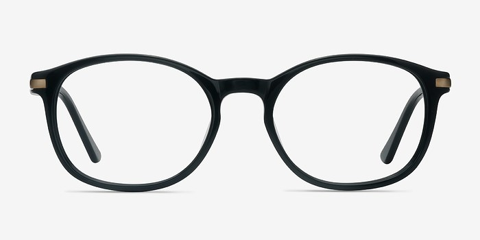 Black New Bedford -  Acetate Eyeglasses