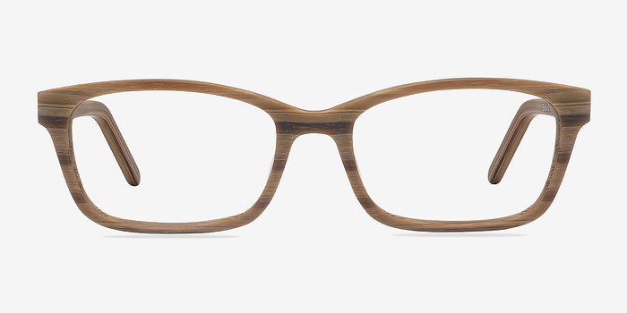 Brown Striped Mesquite -  Classic Acetate Eyeglasses