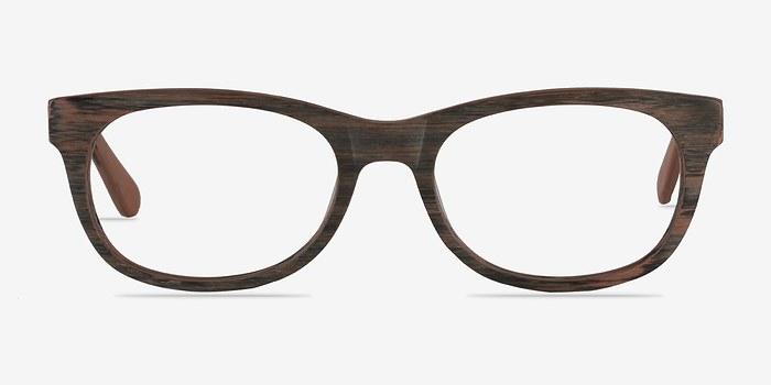 Brown Striped Panama M -  Fashion Acetate Eyeglasses