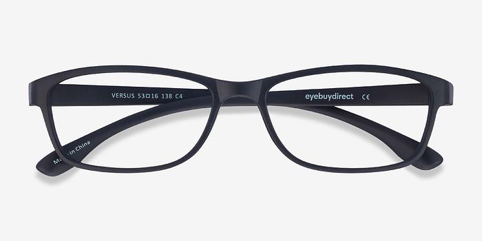 versus matte black plastic eyeglasses eyebuydirect