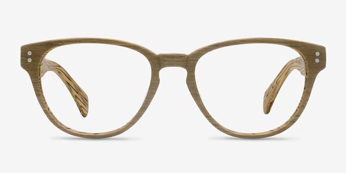 Yellow Light Year -  Fashion Wood Texture Eyeglasses