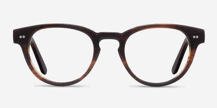 Brown Striped  Oversea -  Acetate Eyeglasses