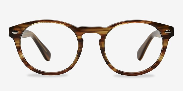 Brown Striped The Loop -  Geek Acetate Eyeglasses