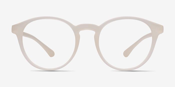 clear white bright side classic plastic eyeglasses - White Frame Eyeglasses