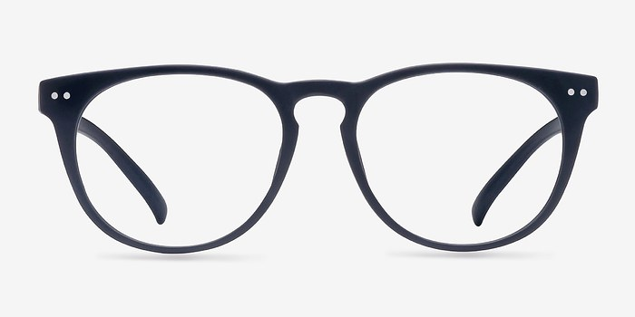 Matte Navy Brick Lane -  Fashion Plastic Eyeglasses
