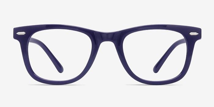 Navy Flurries -  Plastic Eyeglasses