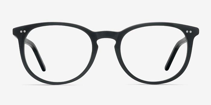 Jet Black Aura -  Designer Acetate Eyeglasses