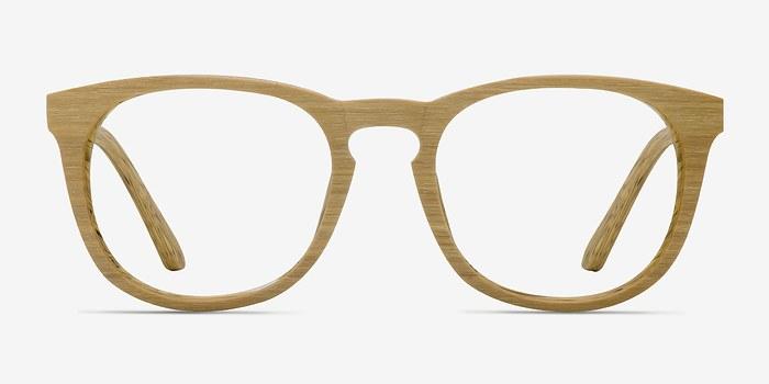 Yellow Providence M -  Wood Texture Eyeglasses