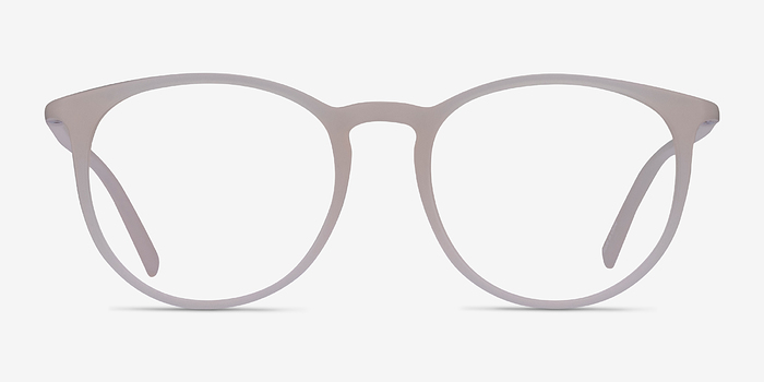 matte clear dialogue fashion plastic eyeglasses