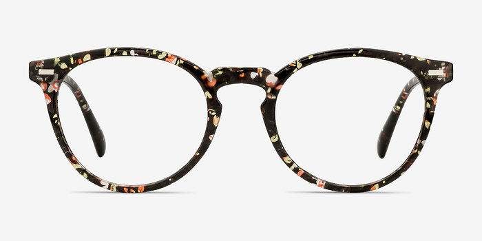 Red Floral Peninsula -  Plastic Eyeglasses
