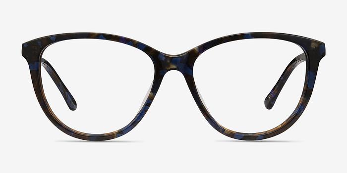 Blue Floral Lancet -  Acetate Eyeglasses
