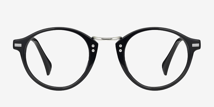 Try It On Glasses Frames : Shibuya Black Acetate Eyeglasses EyeBuyDirect
